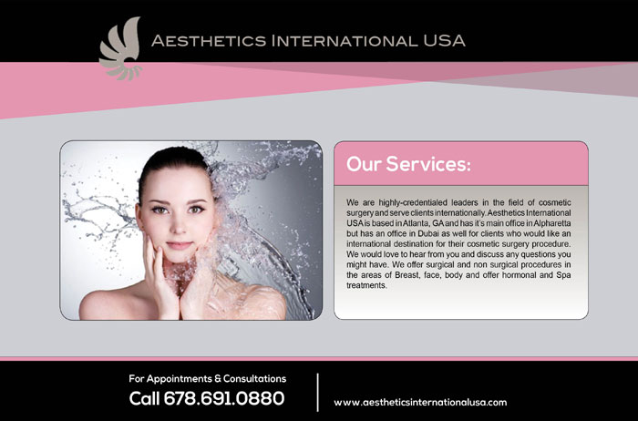 Aesthetics International print promotion