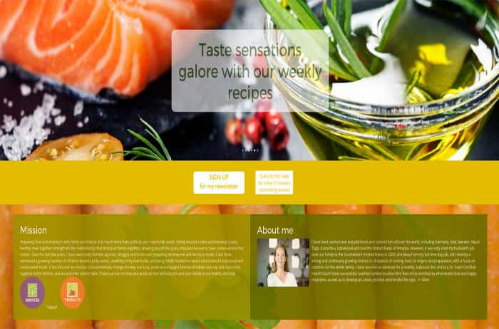 Glasshouse Kitchen Web Design