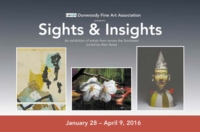 Postcard Design for Dunwoody Fine Art Association juried by Alan Avery