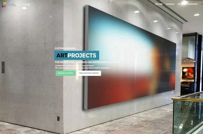 Web design for pixelmagier studios