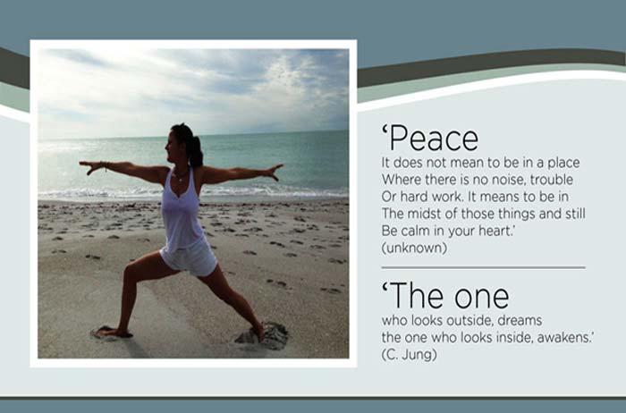 Martina von Platen yoga professional flyer creation